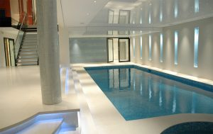 Pool with media room