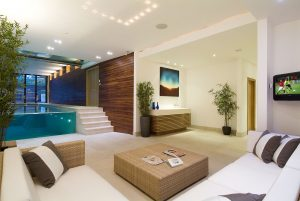 Pool and media room